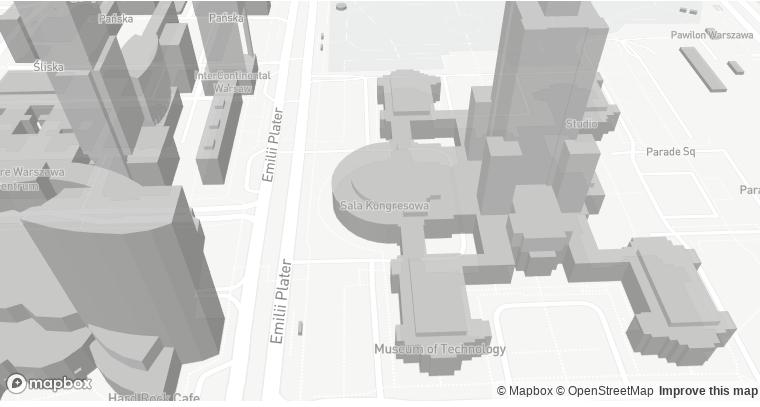 Projekcja 3D budynków w OSM przy wykorzystaniu Mapbox