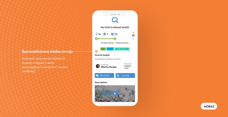 lifetraq widok mobilny